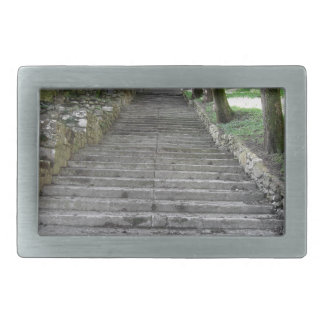 Steep flight of stairs belt buckle