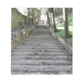 Steep flight of stairs notepad