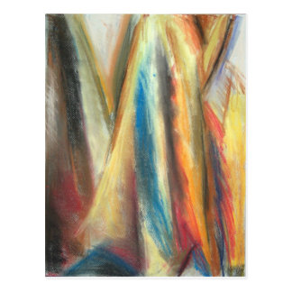 Steep Mountain Pass ( abstract landscape) Postcard