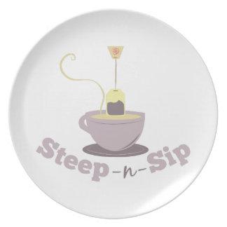 Steep-N-Sip Plate