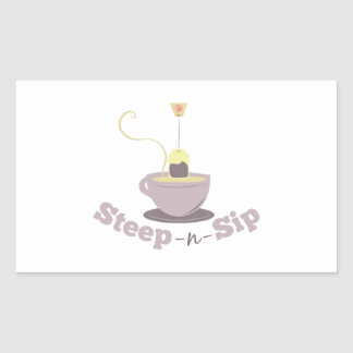 Steep-N-Sip Rectangle Sticker