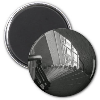 Steep Stairs Down 2 Inch Round Magnet