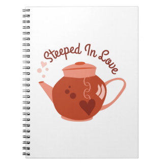 Steeped In Love Spiral Notebooks