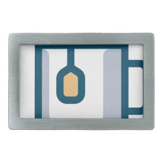 Steeping Tea Rectangular Belt Buckle