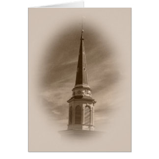 Steeple Blank Greeting Card