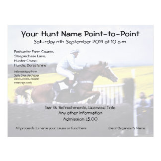 Steeple chase or hurdle hunt racing event flyer