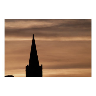 Steeple Silhouette Poster