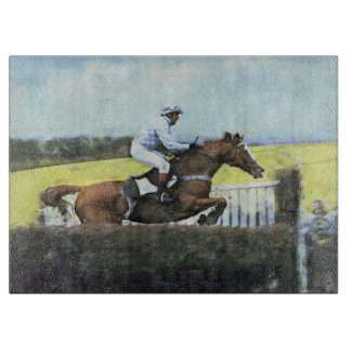 Steeplechase in England Cutting Board