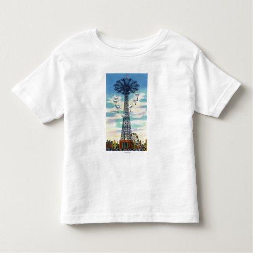 Steeplechase Park Parachute Jump Daytime Scene Toddler T-shirt