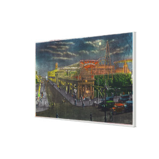 Steeplechase Park Surf Ave to Broadway at Canvas Print