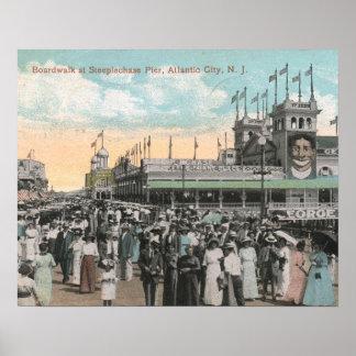 Steeplechase Pier, Atlantic City 1915 Vintage Poster
