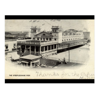 Steeplechase Pier Atlantic City Vintage 1904 Postcard