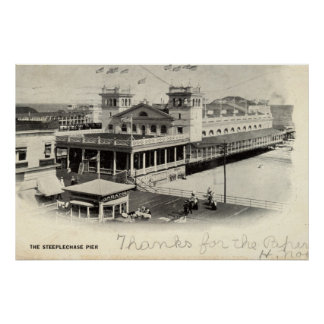 Steeplechase Pier Atlantic City Vintage 1904 Poster