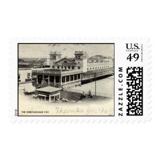 Steeplechase Pier Atlantic City Vintage 1904 Stamp