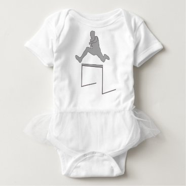 McTiffany Tiffany Aqua Steeplechase Silhouette Baby Bodysuit