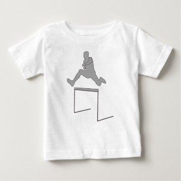 McTiffany Tiffany Aqua Steeplechase Silhouette Baby T-Shirt