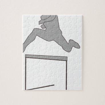 McTiffany Tiffany Aqua Steeplechase Silhouette Jigsaw Puzzle