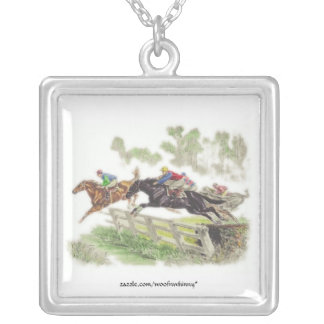 Steeplechase Square Pendant Necklace