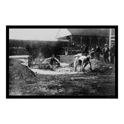 Steeplechase Track Race 1912 Poster