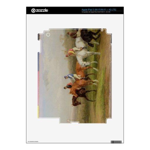 Steeplechasing: Al principio (aceite en lona) iPad 3 Skins