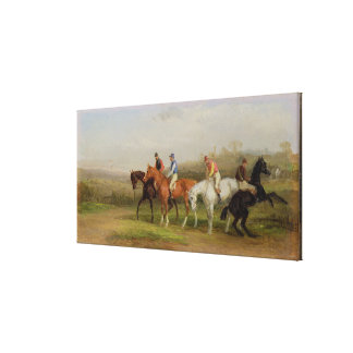Steeplechasing: At the Start (oil on canvas) Stretched Canvas Prints