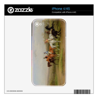 Steeplechasing: At the Start (oil on canvas) Decals For The iPhone 4S
