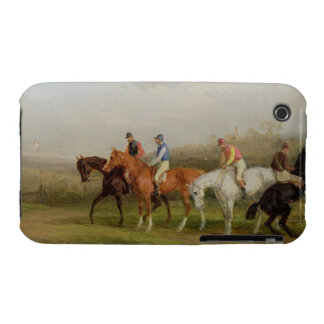Steeplechasing: At the Start (oil on canvas) iPhone 3 Case
