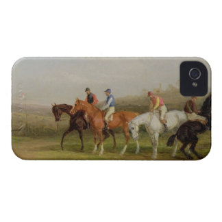 Steeplechasing: At the Start (oil on canvas) iPhone 4 Case-Mate Cases