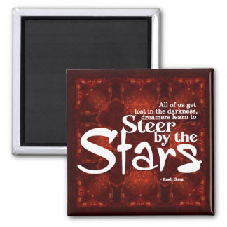 Steer by the Stars Quotation Magnet