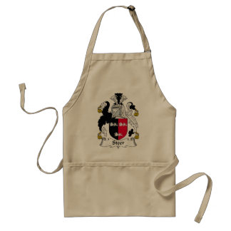 Steer Family Crest Adult Apron