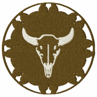 Steer Head on Leather Wheel Native American Design
