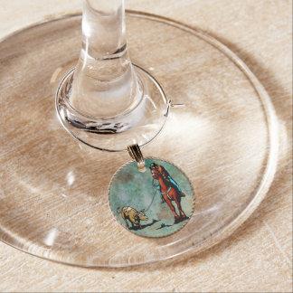 Steer Roper Wine Charm  Team Roper
