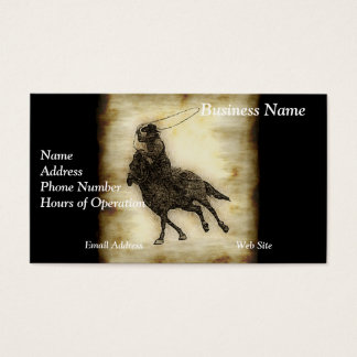 Steer Roping Rodeo Cowboy Business Card