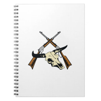 STEER SKULL AND RIFLES NOTE BOOK
