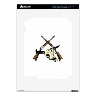 STEER SKULL AND RIFLES iPad 3 DECAL