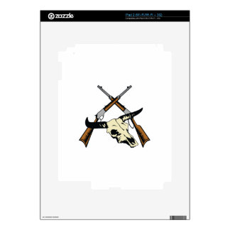 STEER SKULL AND RIFLES DECAL FOR iPad 2