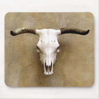 steer skull mouse pad