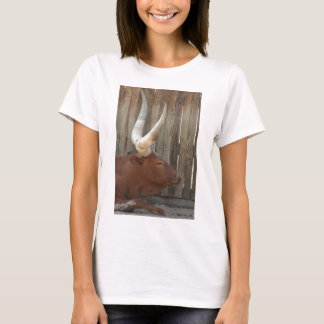 Steer With Big Horns T-Shirt