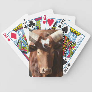 Steer With Long Horns Bicycle Playing Cards