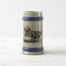 Steer Wrestler Beer Stein