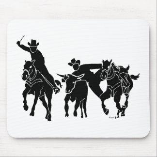 Steer Wrestling 1 Mouse Pad