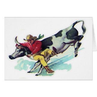 Steer Wrestling Cowboy Card