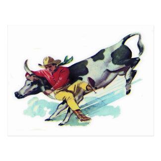 Steer Wrestling Cowboy Postcards