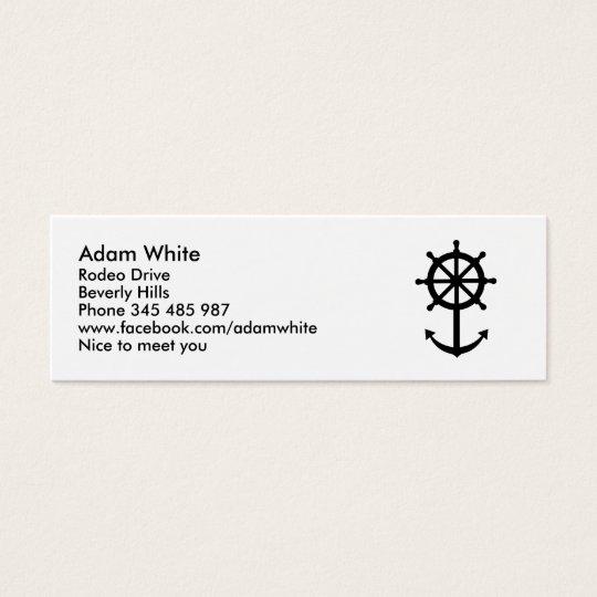 Steering wheel anchor mini business card