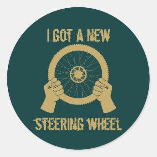 Steering wheel classic round sticker