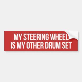 Steering Wheel Drum Set Bumper Sticker