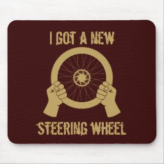 Steering wheel mouse pad