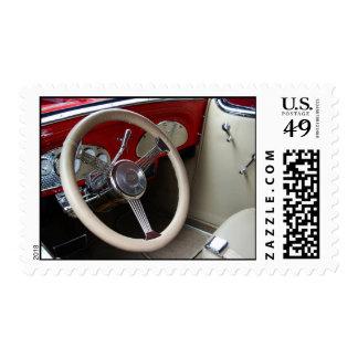 Steering Wheel Of Classic Car Stamp