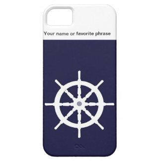 Steering wheel on navy blue background. iPhone SE/5/5s case