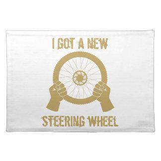 Steering wheel place mat